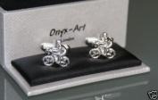 Novelty Mens Cufflinks - Cyclsit Design