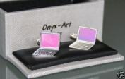 Novelty Mens Cufflinks - Laptop