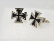 German WW2 Style Iron Cross Cufflinks with a Presentation Box