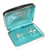 Silver Plated Jigsaw Pieces High Quality Cufflinks