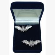 Pewter Cufflinks Bat