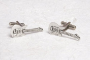 Guitar pewter cufflinks for him