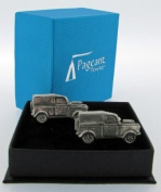 Pewter Cufflinks Classic Car Land Rover