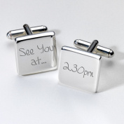 Engraved See you at... Cufflinks - Square ~ Wedding Gift for Groom