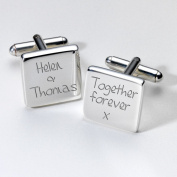 Engraved Together Forever Cufflinks - Square