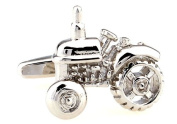 Alfred & Co. Mens Silver Tractor Farming Novelty Cufflinks with Alfred & Co. Cufflink Box