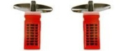 CUFFLINKS TRADITIONAL Phone box Red - Rhodium plated 901054