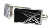 Black Diffusion Cufflinks by Tyler and Tyler