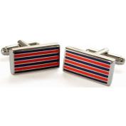"""""""Red Pinstripe Cufflinks by Tyler & Tyler"""""""
