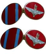 Parachute Regiment Gilt Enamel Regimental Cufflinks