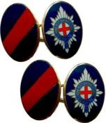 Coldstream Guards Gilt Enamel Regimental Cufflinks