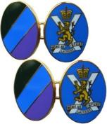 Royal Regiment of Scotland Gilt Enamel Regimental Cufflinks