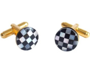 Cufflinks Black Onyx and Mother-of-Pearl