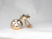 Historic Jewellery Reproduction Gold and Nickel plated pewter - Maltese Cross button cufflinks - Unisex