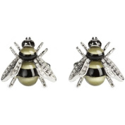 """Black / Gold Darwin Bee Cufflinks by Simon Carter"""