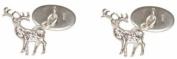 Sterling Silver Stag Cufflinks by David Van Hagen