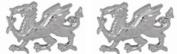 Sterling Silver Welsh Dragon Cufflinks by David Van Hagen