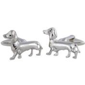 Sausage Dog Cufflinks Dachshund Cufflinks Sterling Silver handcrafted