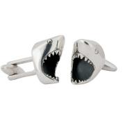Great White Shark Cufflinks, Sterling Silver, Handmade