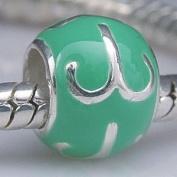Aries - Enamel & Sterling Silver Charm Bead - fits Pandora, Chamilia etc style Bracelets - SpangleBead
