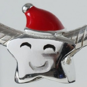 Christmas Star - Sterling Silver Charm Bead - fits Pandora, Chamilia etc style Bracelets - SpangleBead