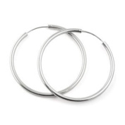 Hoop Earrings in 925 Sterling Silver, 25mm Diameter
