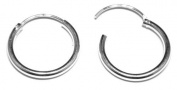 18 mm Diameter Hinged Heavy Weight Hoops - Genuine 925 Sterling Silver