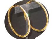 ICE Diamante 7Cm Gold Hoops Earrings Gold
