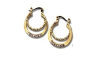 Simply Glamorous Jewellery And Gifts Shop - 9ct Gold Filled Hoops Earrings Cubic Zirconia