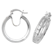 SILVER CZ HOOPS Weight