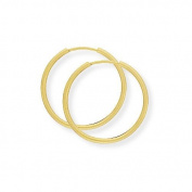 9ct Gold Plain Sleeper Earrings- 22 mm