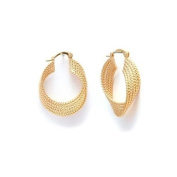 Simply Glamorous Jewellery And Gifts Shop - 18ct Gold Filled 10cm 1 Hoops Earrings For Women