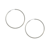 Round Hollow Earrings in 925 Sterling Silver from India