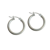 Handmade Round Hollow 925 Sterling Silver Earrings