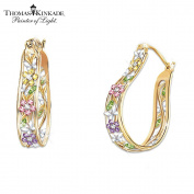 Thomas Kinkade Memories of Beauty Earrings by The Bradford Exchange