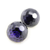 "Earrings silver ""Boules De Cristal"" amethyst (1 cm yy0. 39'')."
