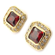 "Gold plated earrings ""Sissi""garnet."