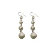 Unpolished Antique Look Handmade 925 Sterling Silver Dangler Earrings