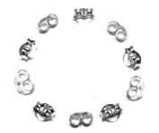 5 Pairs of Medium (appx 5mm) Butterfly Earring Backs Clasps Scrolls - Genuine 925 Sterling Silver