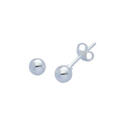 Sterling Silver (925 Stamped) 5mm Ball Stud Earrings