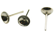 Chuzhao Wu Metal Silvery Tone Conical Earring Posts Stud Ear Posts Pin Earring Accessories