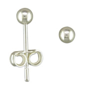 BJC© Solid Sterling Silver 3mm Ball Studs Brand New Giftboxed