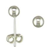 BJC© Solid Sterling Silver 4mm Ball Studs Brand New Giftboxed