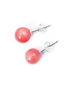 Pink Coral 925 silver Earrings at unbeatable price