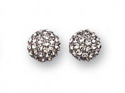Sterling Silver Black Diamond Glitz Stud Earrings