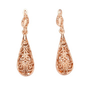 .  Elements Crystal Copper With 18K Rose Gold Plated Drop Earrings Fashion Jewellery Nickel Free