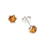 BALTIC AMBER & STERLING SILVER EARRINGS