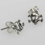 2 Earrings - Pirate Skull - Skull - 925 Silver