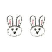 Kids Earrings Cute Bunny Rabbit Childs Earrings Sterling silver Earrings for children