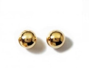 Simply Glamorous Jewellery And Gifts Shop - 18ct Gold Filled Stud Knob Earrings 6mm